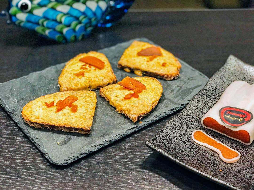 Recette de cuisine : Toast à la poutargue