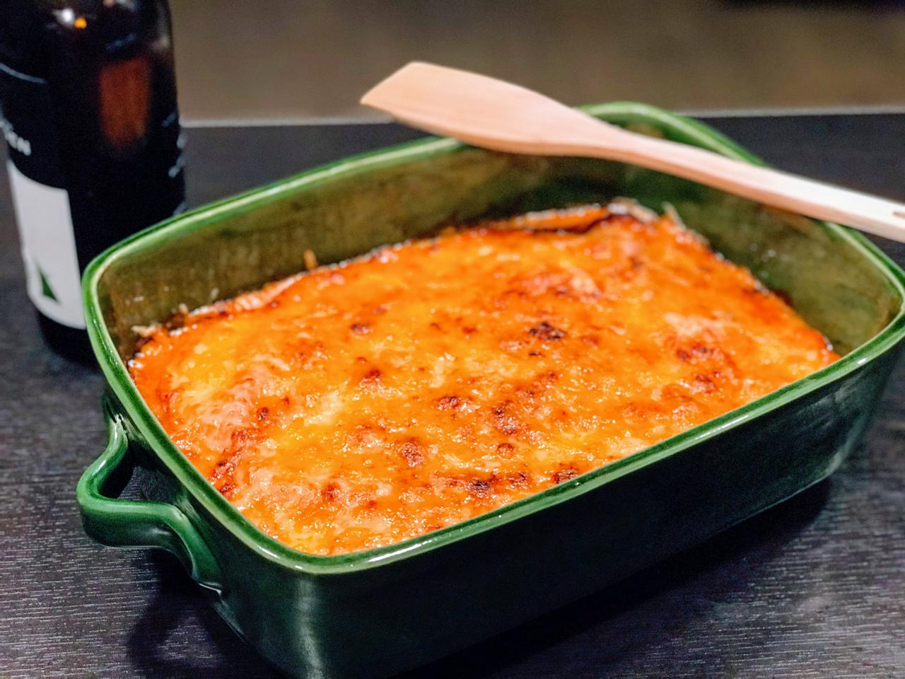 Recette de cuisine : Lasagnes de jambon italien à la truffe, sauce madère